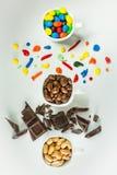 Tazas del chocolate Fotografía de archivo
