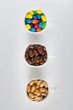 Tazas del chocolate Foto de archivo