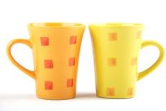 Tazas del color Foto de archivo
