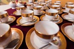 Tazas del té Imágenes de archivo libres de regalías