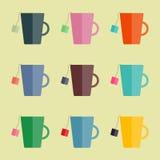 Tazas del té Imagen de archivo libre de regalías