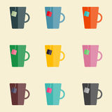 Tazas del té Fotos de archivo libres de regalías