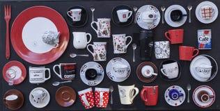Tazas del té y de café Imagen de archivo libre de regalías