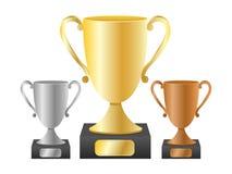 Tazas del trofeo Imágenes de archivo libres de regalías