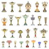tazas del trofeo del vector Imágenes de archivo libres de regalías