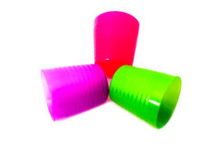 3 tazas en aislante Imagen de archivo