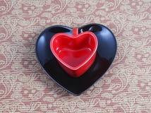 Tazas en forma de corazón Imagen de archivo