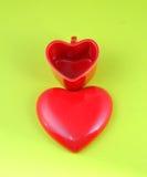 Tazas en forma de corazón Foto de archivo libre de regalías
