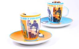 Tazas italianas 1977 del café express de Roma Fotos de archivo