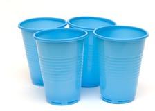 Tazas plásticas Imagen de archivo libre de regalías