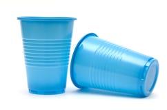 Tazas plásticas Imagen de archivo