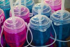 Tazas plásticas vacías Fotografía de archivo