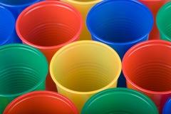Tazas plásticas Fotografía de archivo libre de regalías