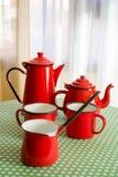 Tazas rojas Fotografía de archivo libre de regalías