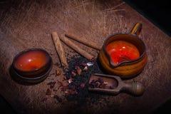 Tazas y accesorios de té para el té Imagen de archivo libre de regalías