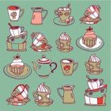 Tazas y crisoles Fotografía de archivo libre de regalías