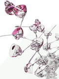 Tazas y cucharas de té Fotos de archivo libres de regalías