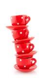 Tazas y platillos Foto de archivo