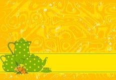 Tazas y teteras hermosas Imagen de archivo libre de regalías