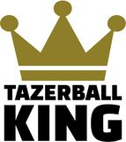 Tazerball king with crown. Vector Stock Photography