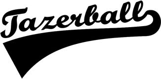 Tazerball word retro font. Vector Royalty Free Stock Images