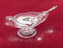 Tazón de fuente de cristal de corte por completo de sal de vector Fotos de archivo libres de regalías