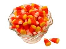 Tazón de fuente de maíz de caramelo Imagenes de archivo