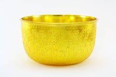 Tazón de fuente de oro Fotografía de archivo