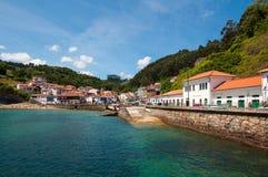 Tazones, Asturien, Spanien lizenzfreies stockbild
