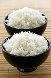 Tazones de fuente de arroz imagenes de archivo