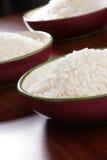 Tazones de fuente de arroz Fotos de archivo libres de regalías