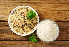 Tazones de fuente de arroz Foto de archivo libre de regalías