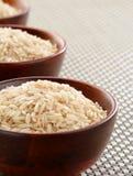 Tazones de fuente de arroz Basmati Fotos de archivo