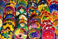 Tazones de fuente de color Imagen de archivo libre de regalías