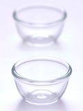 Tazones de fuente de cristal Foto de archivo