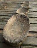 Tazones de fuente de madera Foto de archivo