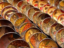 Tazones de fuente de madera Imágenes de archivo libres de regalías