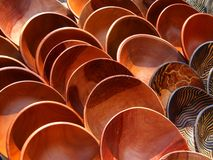 Tazones de fuente de madera Fotografía de archivo libre de regalías