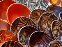 Tazones de fuente de madera Fotografía de archivo