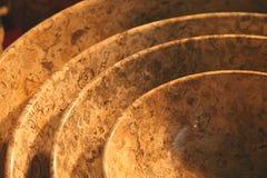 Tazones de fuente de piedra Imagen de archivo libre de regalías