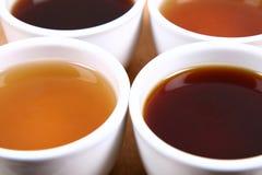 Tazones de fuente de té Imágenes de archivo libres de regalías