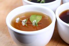 Tazones de fuente de té Imagenes de archivo