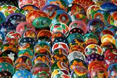 Tazones de fuente mexicanos Imagenes de archivo