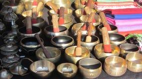 Tazones de fuente tibetanos Imagen de archivo libre de regalías