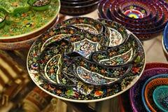 Tazones de fuente turcos fotografía de archivo