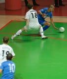 Tazza 2008-2009 dell'UEFA Futsal Fotografia Stock Libera da Diritti