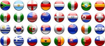 Tazza 2010 di mondo della FIFA delle bandierine Fotografia Stock