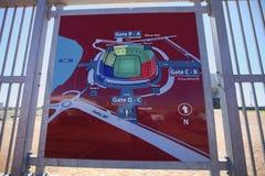 Tazza 2010 di mondo di calcio dello stadio del Port Elizabeth Fotografie Stock