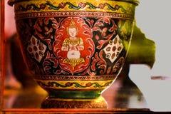 Tazza antica (cultura della Tailandia) fotografie stock