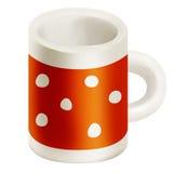 Tazza arancio Fotografia Stock
